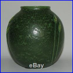 Retired Wispy Wheat Cabinet Vase by Ephraim Faience Pottery