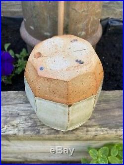 Richard Batterham Cut Sided Vase. Leach Interest