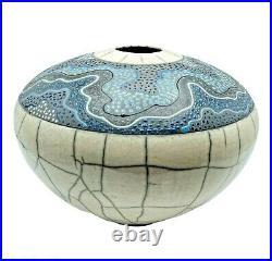Rob MacKay Raku Pottery Urn Vase Textured