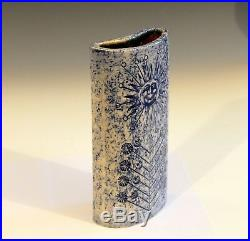Roger Capron Vallauris Pottery Vintage 1950s French Studio Art Sun Face Vase
