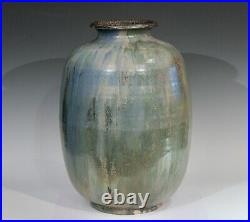 Roger Guerin French Belgian Studio Art Pottery Crystalline Iridescent Glaze Vase
