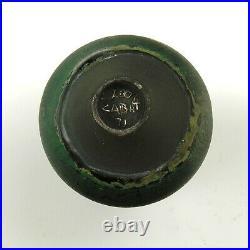 Rose Cabat studio pottery feelie vase mid century modern ceramics black green