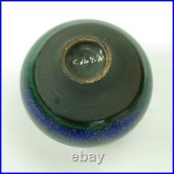 Rose Cabat studio pottery feelie vase mid century modern ceramics blue green pf