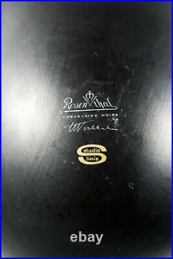 Rosenthal Studio-Line 14 CM Porcelain Black Pollo Vase ° Design Tapio Wirkkala