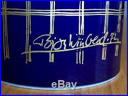 Rosenthal Studio Linie Bjorn Wiinblad 1001 Arabian Night Tall Cobalt Blue Vase