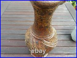Ruthanne Tudball Rare Early Soda Glazed Aletered Large Stoneware Vase