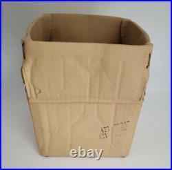 SIGNED Modernist Pop Art Ceramic Michael Harvey Hypereal Cardboard Box Sculpture