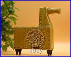 Salter Walsall Pottery Horse with Geometric Mid Century Style Design & Signature