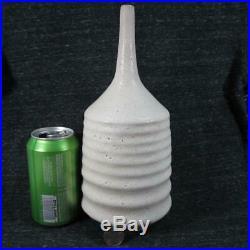 Sara Paloma Art Pottery Vase #1 Modernist Stoneware with White Volcanic Glaze