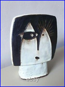 Schaffenacker head sculpture German mid-century WGP ceramic Schäffenacker MCM