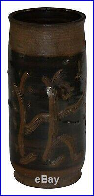 Scheier Pottery Art Deco Dancing Figure And Bird Vase