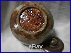 Shoji Hamada Style Studio Art Pottery Mid Mod Handcraft Bowl Lid Urn Vase SIGNED