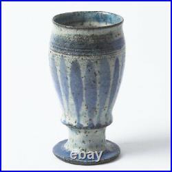 Signed Gutte Eriksen Denmark Pottery Cup Mid-Century Modern Danish Vase 4.5