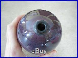 Signed Otto Heino'02 Purple Studio Pottery Vase Nice Form