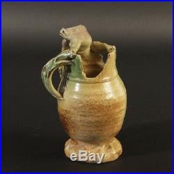 Skulptur Vase Krötengefäss WILFRIED MARIA BLUM studio art pottery 1991 signiert