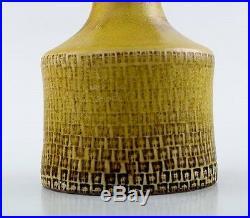 Stig Lindberg (1916-1982), Gustavsberg Studio art pottery vase. Glaze in shades