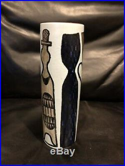 Stig Lindberg Pottery- Gustavsberg Studio Karneval Faience Vase