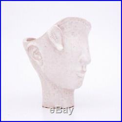 Stig Lindberg Pottery Unique Vase / Sculpture with a face Gustavsberg Studio