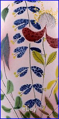 Stig Lindberg Studio Hand for Gustavsberg. Large vase, hand painted decoration