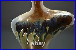 Studio Art Handcrafted Pottery Vase Jack in the Pulpit with Artist Mark