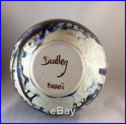 Studio Art Pottery Ceramic Glazed Vase Signed DUDLEY SMITH PREIS Hi. 9 1/2T 8W