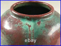 Studio-Keramik Vase Künstler Gusso Reuss Schöngeising German Art Pottery 1945