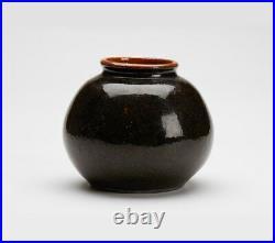 Studio Pottery Brown Glazed Winchcombe Bulbous Vase 20th C