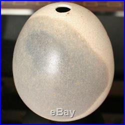 Studio Pottery DAVID LEACH (1911-2005) Crackle Glazed Ovoid Pebble Vase
