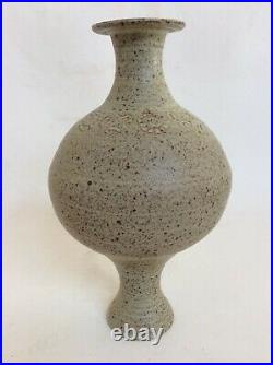 Studio Pottery Large Ikebana Vase Signed Trentham De Leliva Double Ended