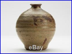 Studio Pottery Stone Glazed Bulbous Bottle Vase 20th C