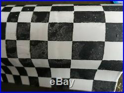 Studio Pottery Vase Raku Fired Black & White 20th Ilona Sulikova Mid Century