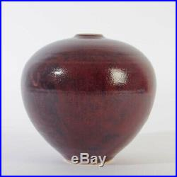 Studiokeramik art pottery Görge Hohlt Vase ochsenblut Glasur 1989 TOLLES STÜCK