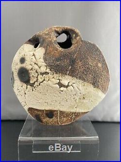 Stunning And Rare Robert Fournier (1915-2008) Studio Pottery Pebble Vase