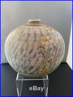 Stunning Large John Calver Ovoid Studio Pottery Vase