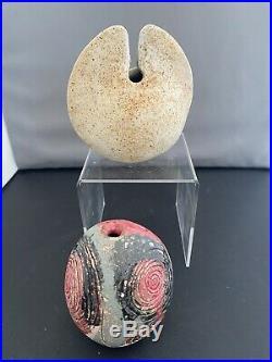 Stunning Pair of Alan Wallwork Studio Pottery Miniature Bud Vases