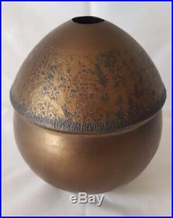 Stunning Peter Beard Gold Metallic Lustre Sculptural Studio Ceramic Vase