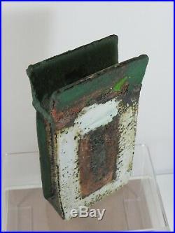 Stunning Robin Welch Studio Pottery Slab Pot Amazing Colours Perfect