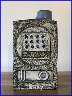 Stunning Troika Chimney Vase Strong Colours Beautiful Design Studio Pottery