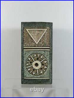 Stunning Troika Studio Pottery Brick Vase Great Colours Alison Brigden