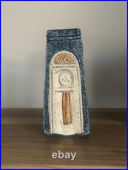 Stunning Troika Studio Pottery Coffin Vase Amazing Colours Perfect Condition