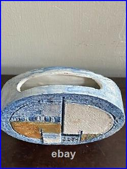 Stunning Troika Studio Pottery Small Wheel Vase Strong Colours Perfect