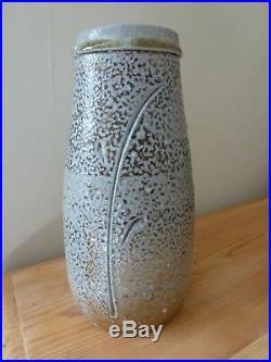 Substantial PHIL ROGERS Signed Studio Pottery Ceramic Salt Glaze Vase (Philip)