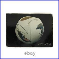 Sue Dyer Studio Pottery Mishima Inspired Porcelain Vase
