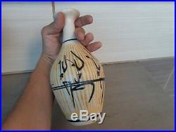 Super rare Vintage Unusual Israel Harsa AZAZ Ceramic Vase arabic islamic Letters
