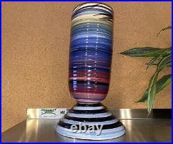 Tall Peter Shire Hand Thrown Pottery Vase, Postmodern Memphis Milano Ceramics