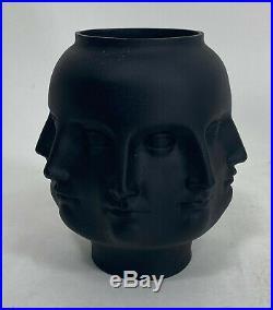 Tms 2005 Black Perpetual Face Vase Jonathan Adler Fornasetti Dora Maar Vitruvian