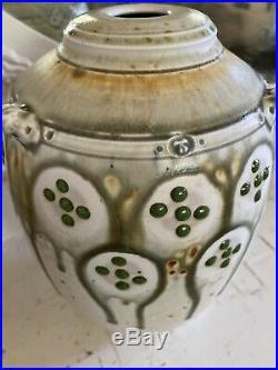 Tom Turner Pottery Pot Vase 1289 Peachblow