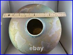 Tony Evans Mid Century Raku vase signed & numbered 1