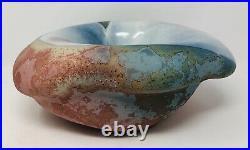 Tony Evans Raku Pottery Large Centerpiece Bowl Vase #7 Signed 13x10x5 inches