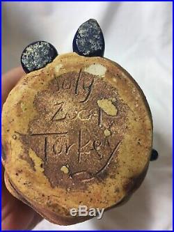 Turkey Merck Pottery Face Vase